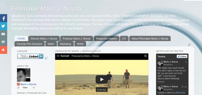 @popfilmz Filmmaker Mario J. Novoa