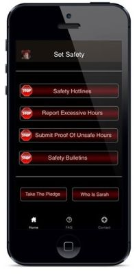 Sarah Jones Set Safety App